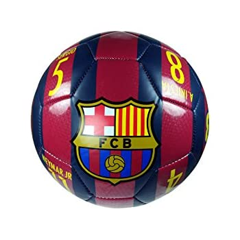 Amazon.com  FC Barcelona Official SOCCER Full Size 5 Soccer Ball ... a56ab46467c00