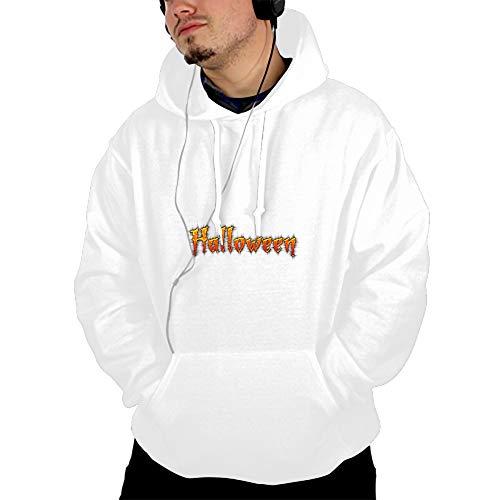 Halloween Word Art Men Print Long Sleeve Casual Sweatshirts 2018 Spring Hoody Fashion Men Pullovers