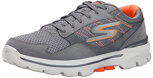 Performance Skechers Compete Go Up Charcoal Men's Walk Orange Shoe 3 Lace Walking dqaaB1w