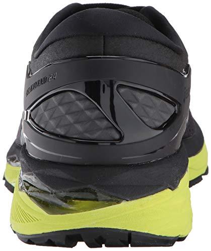 ASICS Mens Gel-Kayano 24 Running Shoe Black/Green Gecko/Phantom 6 Medium US by ASICS (Image #2)