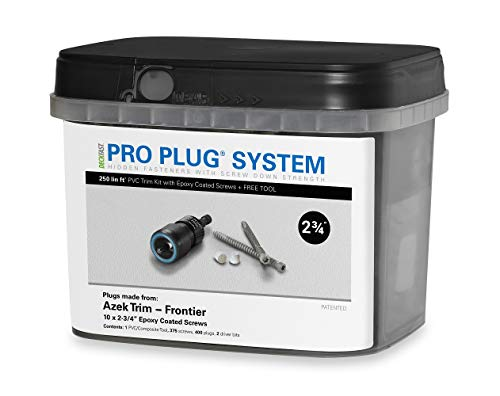 - Pro Plug PVC Plugging System for AZEK Frontier Trim - Epoxy Steel - 375 pcs for 250 Lineal Ft.