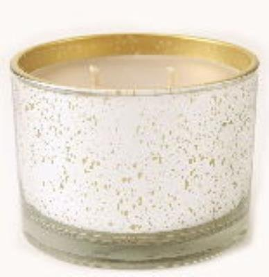Bless Your Heart Stature Platinum on Gold Glass 16 oz Candle by Tyler Candle (Candle Gold Heart)