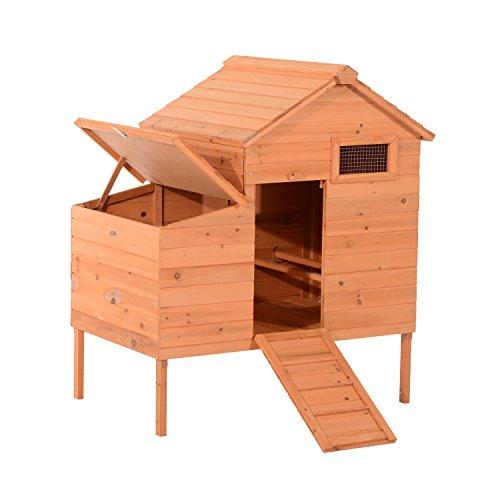 Pawhut Outdoor Raised Leg Hen House Chicken Coop by PawHut (Image #8)