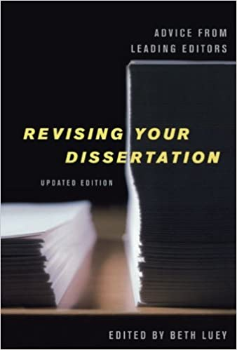 revising dissertation for book Surprisingly, there exist few concrete timelines you can consult to get a sense of how long it takes to turn a dissertation into a book in this post, i offer my own timeline for revising my dissertation into a book as an example of how one specific academic book went from dissertation to published.
