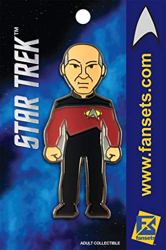 Star Trek CAPT PICARD (Patrick Stewart) Licensed FanSets Pin Star Trek Bx4 A ()