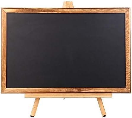 SHENGFU デスクトップメモメッセージ黒板イーゼル黒板ブラケットスケッチブック子供ライティング (Color : Black)