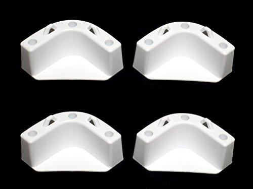 JSP White Boat Marine Cooler Mounting Kit for Yeti Igloo Engle Coleman (Set of ()