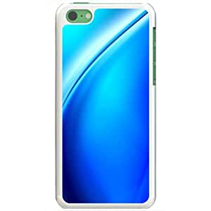 Apple iPhone 5C Cases Customized Gifts Of 3D Graphics Blue Wave 3d Abstract White