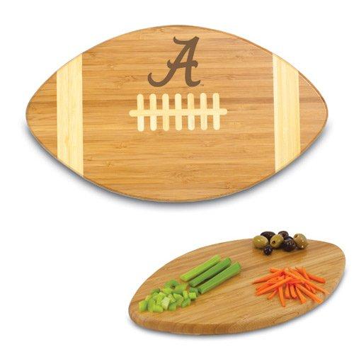 NCAA Alabama Crimson Tide Touchdown! Bamboo Cutting Board, - Alabama Tide Natural Crimson