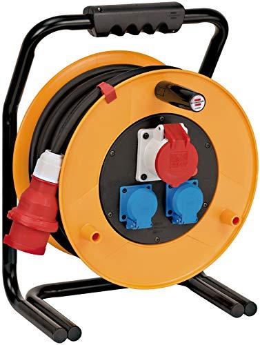 Brennenstuhl 1316200 Brobusta - Carrete alargador de cable (40 m, H07RN-F 5G1,5, IP 44)