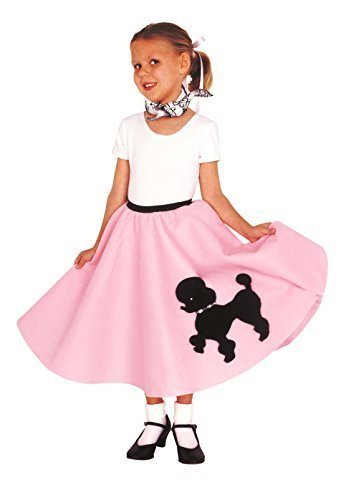 Kidcostumes Poodle Skirt with Musical Note Printed Scarf ()