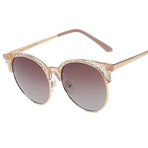 Protección polarizadas las aire del la agraciadas al lentes ULTRAVIOLETA conduce sol de gafas los de gato de Gafas y que ojos libre sol playa viajar mujeres para verano Marrón de de Púrpura Color las O7zw1WnBq
