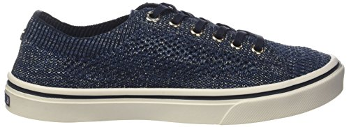 Femme Midnight Lace Weight Knitted Hilfiger Light Sneakers Tommy Bleu Up Basses 403 wp8SxqpHT