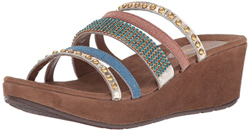 Wedge Step Spring Sandal Women Gold Multi Oletha A6wBPtq