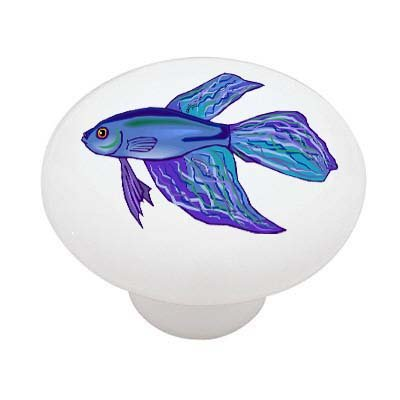 Blue Betta Fish High Gloss Ceramic Drawer ()