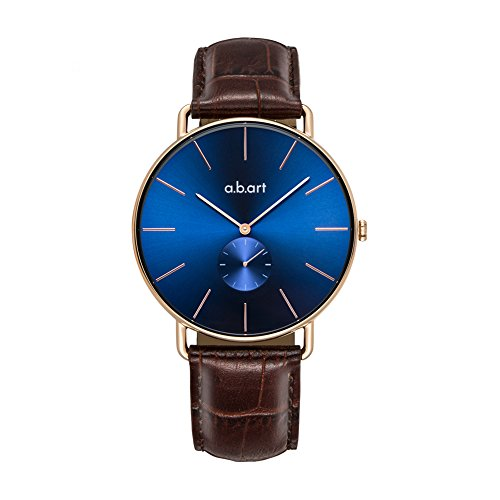 a.b .art FR36-013-4L Women Crack Oily Calf Leather Strap Blue Dial Gold Watch Wrist Watches by a.b.art (Image #1)