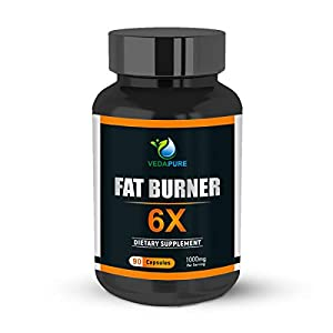 Vedapure Natural Fat Burner 6X Advanced Weight Loss Supplements with Green Coffee Bean Extract, Green Tea Extract and…