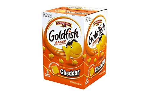 Pepperidge Farm Goldfish, Baked with Real Cheese Snack Crackers, Cheddar Flavor – 3.62 LB x 2 Pack – Total 7.24 LB Review