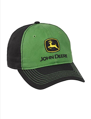 (.John Deere Green Black Twill Cap Low Profile)