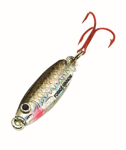 Northland FMS3-11 Forage Minnow Jig'n Spoon, 1/8-Ounce, Silver Shiner