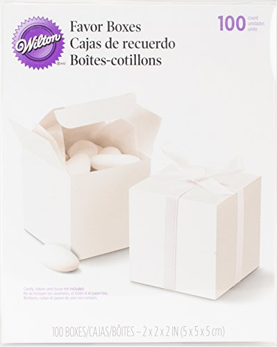 Wilton White Square Favor Box Kit, 100 Count, (White Favor Kits)