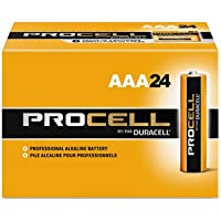 Procell Alkaline Batteries, AAA, 24/Box, Total 144 EA, Sold as 1 Carton