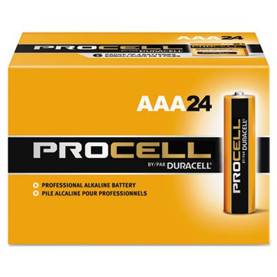 Duracell Procell Alkaline Batteries, AAA, 24/Box, Total 1...