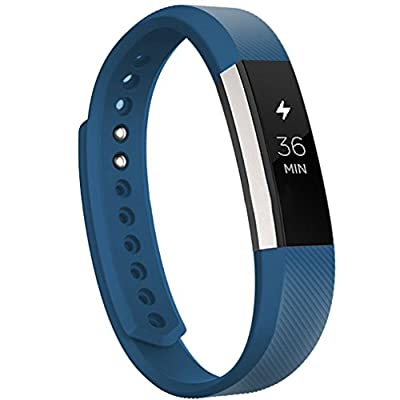 Fitbit Alta Classic Accessory Band, Wearlizer Silicone Smart Watch Replacement Strap Bracelet for Fitbit Alta
