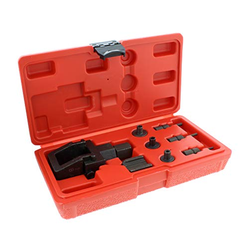 ABN Motorcycle Chain Breaker Tool and Riveting Kit - 8-Piece Heavy Duty Chain Link Removal Tool