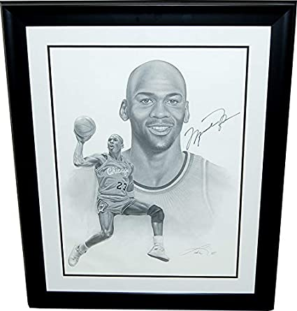 1/1 Michael Jordan CUSTOM FRAMED & Signed Lithograph 26 x 33! HUGE ...