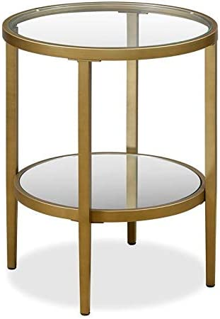 Henn Hart Glass Side End Table