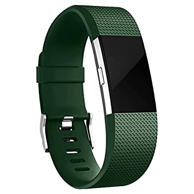 Maledan Classic Replacement Band for Fitbit Charge 2