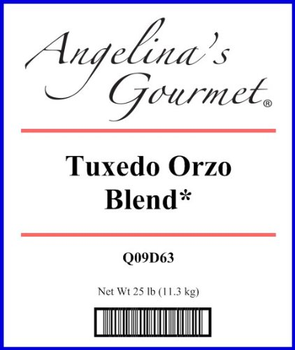 Orzo, Tuxedo Blend* - 25 Lb Bag Each by Woodland Ingredients