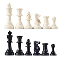 """Unweighted Tournament Chess Pieces with 3 3/4"""" King"""
