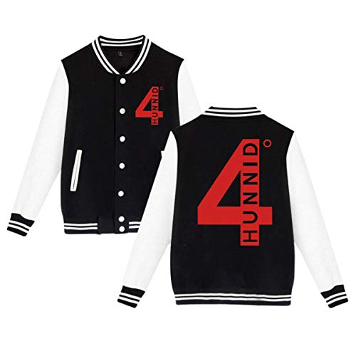 BBABC 4hunnid Logo Mens & Womens Particular Hoodie Baseball Uniform Jacket Sport Coat Black