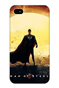 Fireingrass Faddish Phone Man Of Steel Superman Movie Case For Iphone 4/4s / Perfect Case Cover