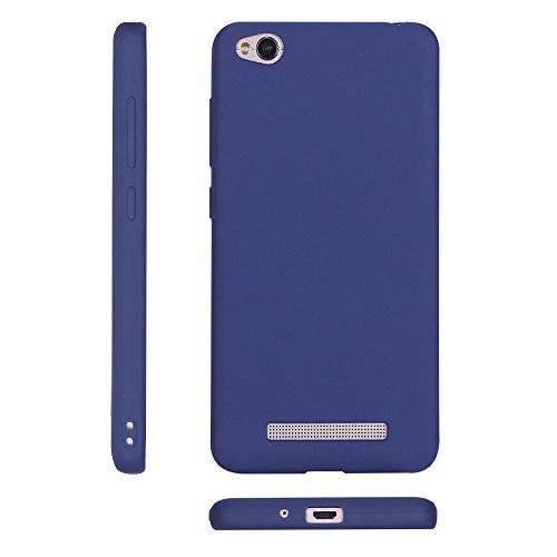 Funda Xiaomi Redmi 4A, Carcasa Redmi 4A, Suave Opaco gel Silicona TPU Cover RosyHeart Ultra Fina Flexible Goma Mate Case Tapa Anti-arañazos Protectora Caja Funda para Xiaomi Redmi 4A (5.0 Pulgadas) -  Azul oscuro