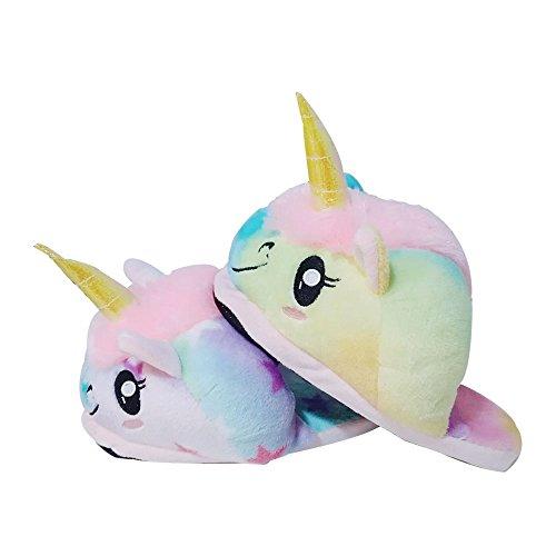 En Arc Ciel Chaussons Colorfulworld Peluche Pantoufles Licorne Unicorn 4xpwSq