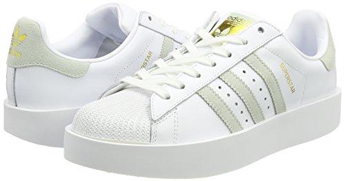 Blanc W À Adidas Sport Femmes chaussures Lin Haut De Or Faible Vert Blanc Des Chaussures Métallique Audacieuses Superstar x1B1q8I
