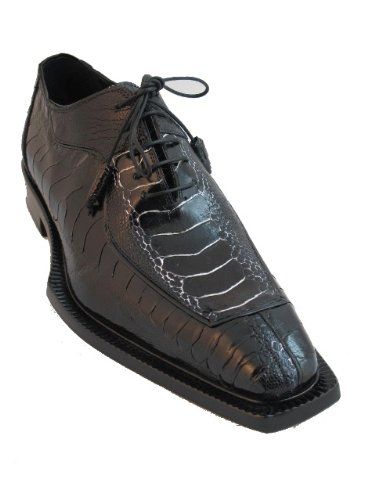 Mauri Ostrich Leg Dressy Lace up Shoes Black/White Size 12