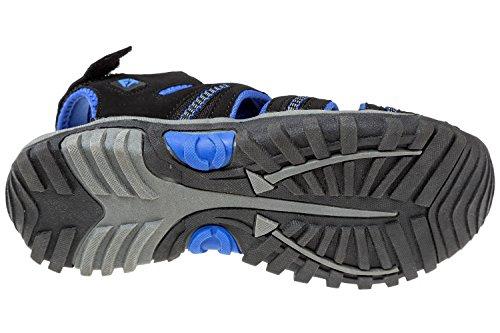Trekking Blau 12 Gibra® Schwarz Sandalen Herren Klettverschluss Blau UK Größe 7 Schwarz für mit UdqdT4