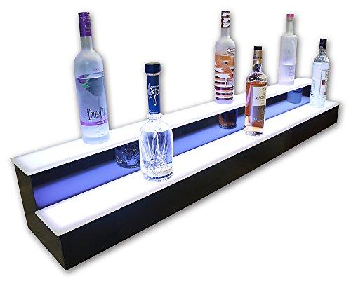 2 Tier LED Lighted Home Bar Shelves, Liquor Display, Home Bar Display