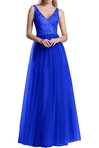 A Langes La Spitze Rock Abendkleider Rosa Blau V Promkleider Linie Prinzess Braut Royal Tuell Partykleider Ausschnitt Marie wYUYq7fT
