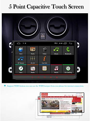 Radio para coche de 9 pulgadas Android 8.0 2 Din Oreo Quad Core 2 GB Sat Naval Reproductor de Video GPS Bluetooth DAB+ OBD2 para VW Volkswagen SEAT Skoda ...