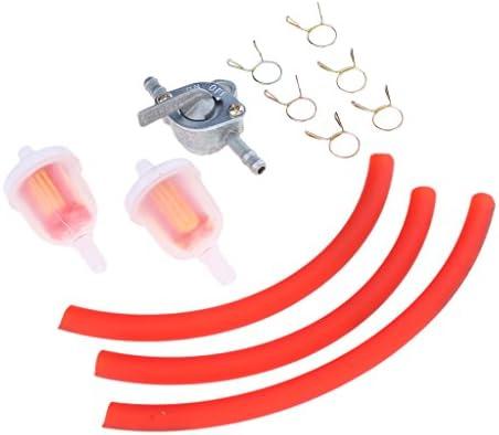 Rouge Sharplace Moto Tuyau dEssence Durite Carburant avec Commutateur R/éservoir et Filtre Carburant