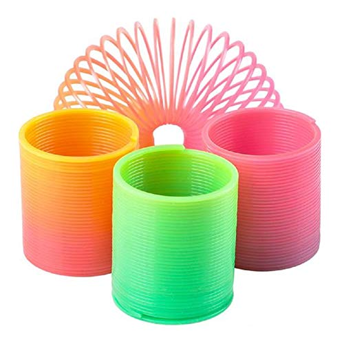 CUZAIL Party Favor for Kids & Adults - Slinky Springs Birthday Fun Gifts Toys - Rainbow Colors 1.4