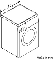 Bosch WUQ28440 Waschmaschine Frontlader/A+++ / 1400 UpM/Eco-Silence  Drive/Aqua-Stop