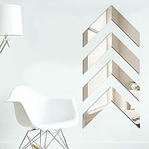 LY & HYL pared íntimo Creative Puzzle adhesivo decorativo para pared DIY espejo de acrílico pegatinas de pared