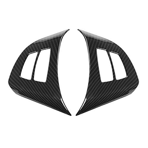 2Pcs Carbon Fiber Style Steering Wheel Cover Trim,Keenso Steering Wheel Frame for BMW X5 E70 2008-2013 ()