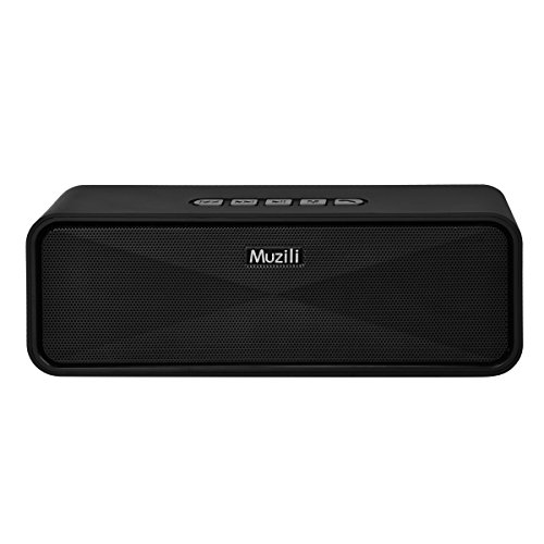 Muzili Soundlife Bluetooth Speakers I with Stero Sound, Slightly Waterproof, Microphone, Portable Wireless Speaker System for Home,Outdoors, Car and Travel by Muzili